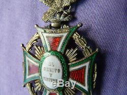 Imperial Order of Guadalupe GRAND CROSS Vintage Mexican Military Medal GOLD