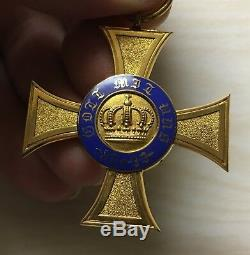 Imperial PRUSSIA, GERMANY, ORDER OF THE CROWN, Medal Cross Badge Original Rare