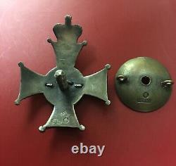 Imperial Russian Cross Order Medal Badge Star Silver Rare # 3