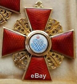 Imperial Russian GOLD Order of St. Anna 2nd Class. Cross Medal Badge USA ONLY