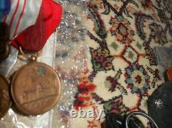 Japanese Imperial Medal bar 7 medals. Manchukuo 1940 Census medal Extremely RARE