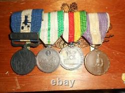 Japanese WW1 Imperial medal bar 4 place rare. LOOK