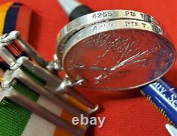 Kings Own Scottish Boer War Medal Pair 4259 Temple Gallipoli Royal Fusiliers Ww1