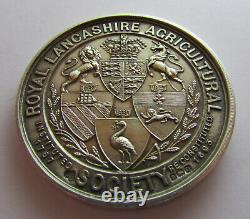 Large English hallmarked solid silver Royal agricultural society medal