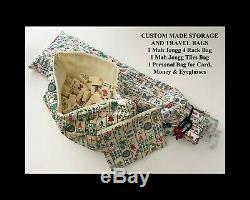 Limited Edition Non-Fading CRISLOID ROYAL GOLD MEDAL Mah Jongg Set, 164 Tiles