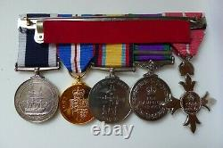 MBE to Royal Navy Rating with Gulf & Northern Ireland Medal + photos
