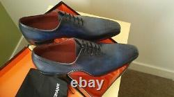 Magnanni Vito Medallion Leather Oxford Royal Blue Mens 10. New in the box