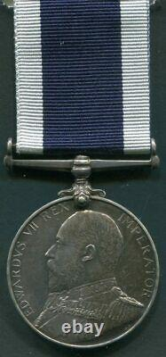 Medal Long Service and Good Conduct Medal Royal Navy EVII, Armourer, HMS Acheron