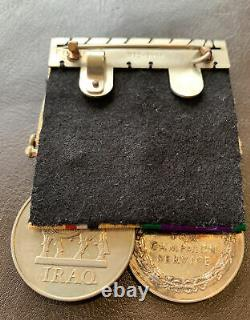 Medal Pair Royal Artillery Iraq Medal & General Service Medal Northern Ireland