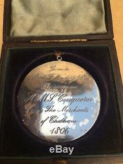 Medal Presented To Royal Marine Officer Present At The Battle Of Trafalgar