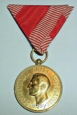 Medals-original Serbia/serbian Royal Household Merit Medal 1929-1934 Alexander I
