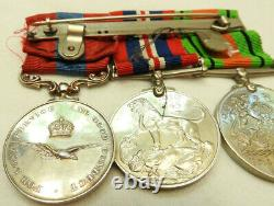 Military WWII Pair & Royal Air Force Long Service Good Conduct Medal Trio (5266)