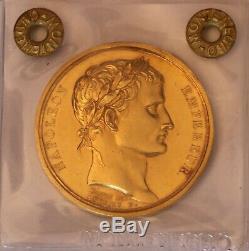 Napoleon I. Imperial Coronation. 1802 year XIII. Gold medal. By Denon-Andrieu