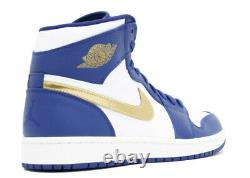 Nike Air Jordan 1 Retro High GOLD MEDAL ROYAL BLUE WHITE OG TOE BLACK 332550-406