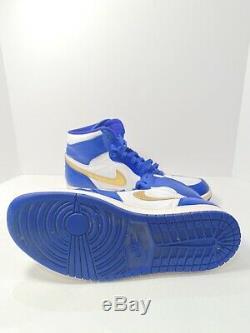 Nike Air Jordan 1 Retro High Gold Medal 332550 406 Deep Royal Blue Gold Size 9.5