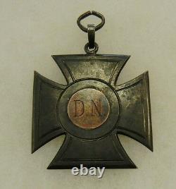 ORIGINAL OLDER Vintage IMPERIAL GERMAN D. N. IRON CROSS SILVER MEDAL AWARD BADGE
