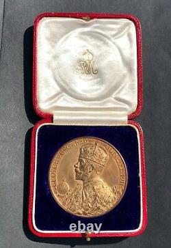 Official 1911 Boxed Royal Mint George V & Queen Mary Bronze Coronation Medal