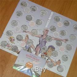Olympic 50p SPORT ALBUM Completer Medallion Official Royal Mint Coin Hunt Folder