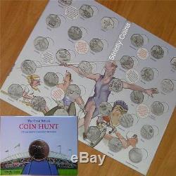 Olympic 50p SPORT ALBUM Official Royal Mint Coin Hunt Folder Completer Medallion