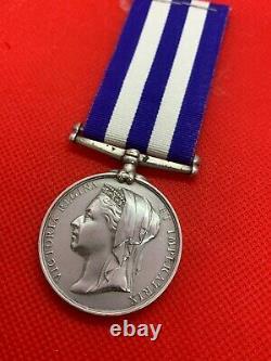 Original Egypt and Sudan Medal 1882-89, No Clasp, Royal Navy, HMS Northumberland