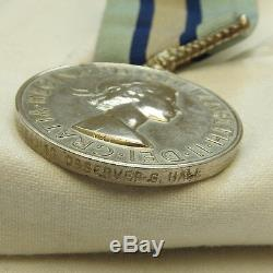 Original Military Royal Observer Corps Medal Leading Observer G. Hall 4547