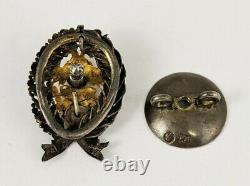 Original Pre WW1 Military RUSSIAN IMPERIAL Marked 84 Order SILVER BADGE Medal