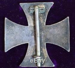 Original World War 1 WW1 WWI Imperial German Iron Cross EK1 800 Vaulted Medal