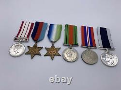 Original World War 2 Medal Grouping, Royal Navy, NGSM Palestine, LSGC, Gates