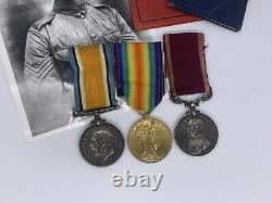 Original World War One Medal Grouping, LSGC, Royal Garrison Artillery, Battery Q