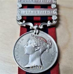 Pre Ww1 British Army India General Service Medal Burma Ochiltree Royal Artillery