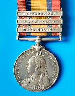 Queen South Africa Medal Lieutenant 35th Coy Middlesex Imperial Yeomanry