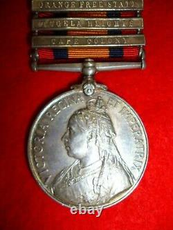 Queen's South Africa 1899-1902 Medal, (5) clasps Cheatle, 2nd Bn Royal Fusiliers
