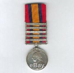 Queens South Africa Medal with 5 clasps to Private W. Bush, 1st Royal Dragoons