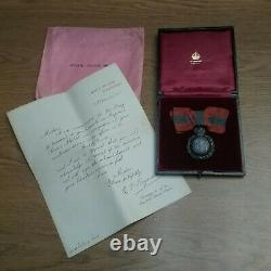 RARE Named Imperial Service Medal with Wreath for LADY George V 1917 Document Case