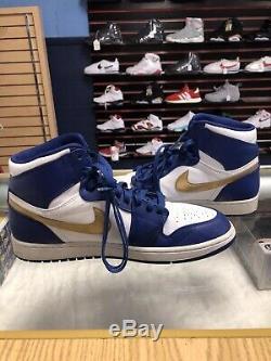 RARE Nike Air Jordan 1 Retro High Gold Medal Royal Infrared 332550-406 10.5