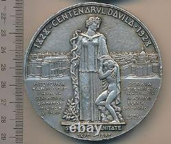 ROMANIA Royal 1928 CAROL DAVILA medal ROMANIAN Medic General DOCTOR Sanitary RR