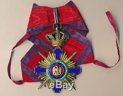 ROMANIA Royal BADGE Order STAR Grand OFFICER Romanian MEDAL COMMANDER 1878 CAROL