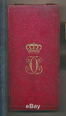 ROMANIA Royal ORDER Romanian Crown MEDAL Grand OFFICER Carol I Leather BOX 1877