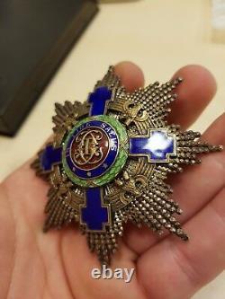 ROMANIA Royal ORDER Romanian STAR MEDAL Great Grand CROSS Officer Carol II 1936