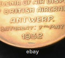 ROYAL ANTWERP AVIATION CLUB British Aircraft Medal 1932