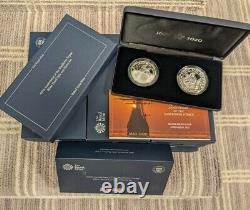 ROYAL MINT 400th Anniversary Mayflower Voyage 2pc Silver Proof Coin Medal 2020