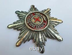 ++ Rare Big Silver Order Star Of The Order Of Saint Anna Imperial Russia ++