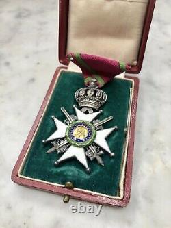Rare Saxe Coburg Gotha House Royal Order, Cross With Swords Enamel II Class 1833