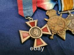 Rare Ww1 Nurse Medal Group & Royal Red Cross MID Qainsr