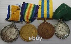 Rare ww1 British medal group Territorial war service medal Royal Scots