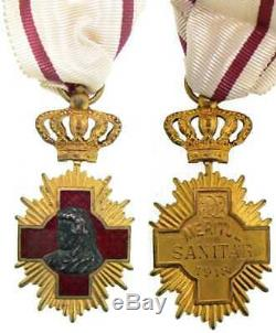 Romanian WW1 Royal Sanitary Merit Medal, 1st Class, 1913 Very Valuable and Rare