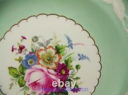 Royal Crown Derby Kendal Rose Medallion Dinner Plates Set Of 12 Artist Signed