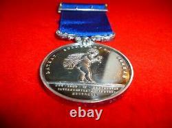 Royal Humane Society silver Medal awarded to Sir C. Grundy, Morecambe Bay 1870