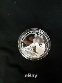 Royal Mint 1989 Proof 5 oz Silver Hong Kong Coin Show Medal RARE with box