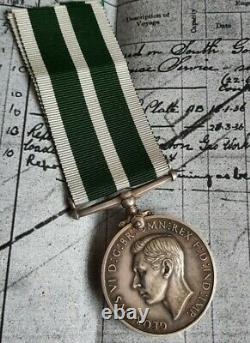 Royal Naval Reserve GVI RNR LS & GC medal to WF GUYVER